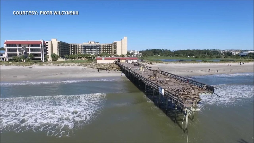 Surfside Pier Other Myrtle Beach Piers Damaged By Hurricane Matthew Wciv