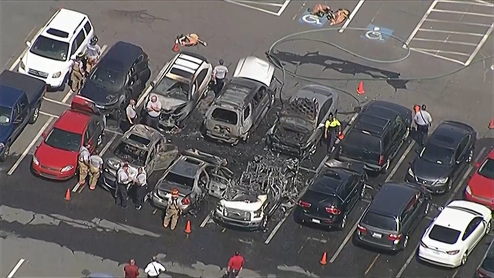 What sparked Carowinds parking lot blaze burned away in fire | WCIV
