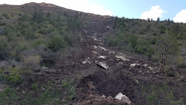 Rock slide dolores co