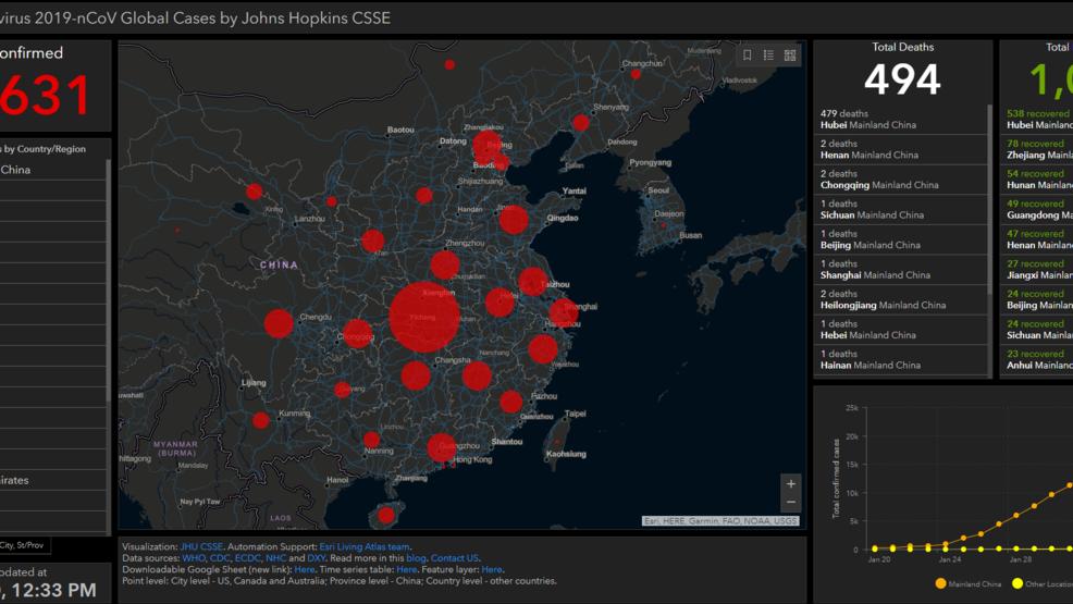 Coronavirus gisanddata map