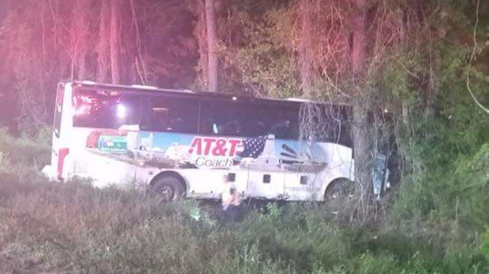 17 hurt in charter bus crash on I-95 in South Carolina | WCIV