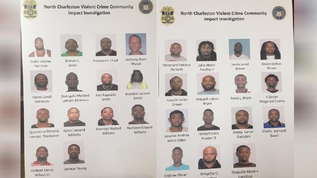 21 arrests made after 'joint operation' in N  Charleston, Dorchester